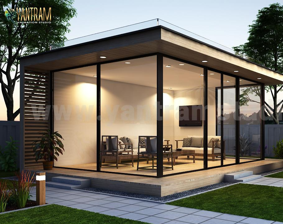 3d exterior rendering services and 3d animation showroom for a commercial space by architectural Studio, New York – USAby Ruturaj Desai