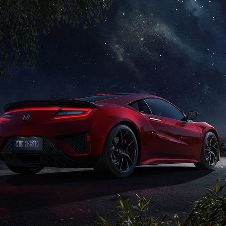 Honda NSX at night