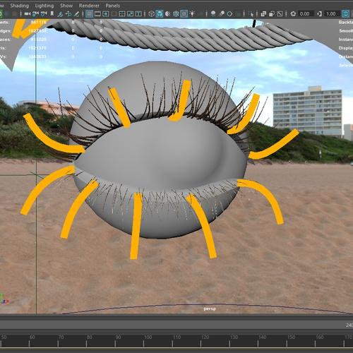 eyelash details 3d portrait