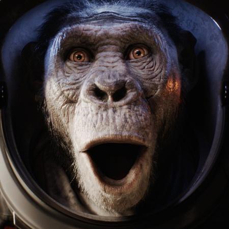 monkey pose facial expression shocked vfx