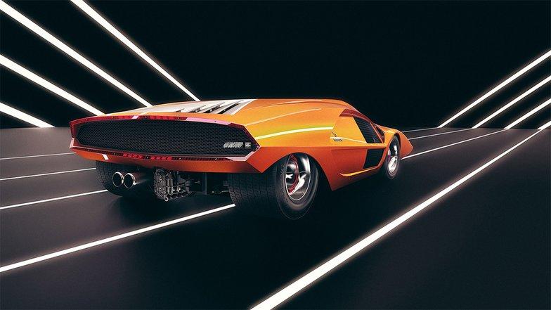 sports car in studio