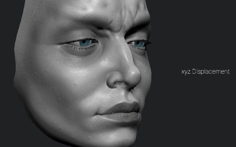 female face 3d modelling