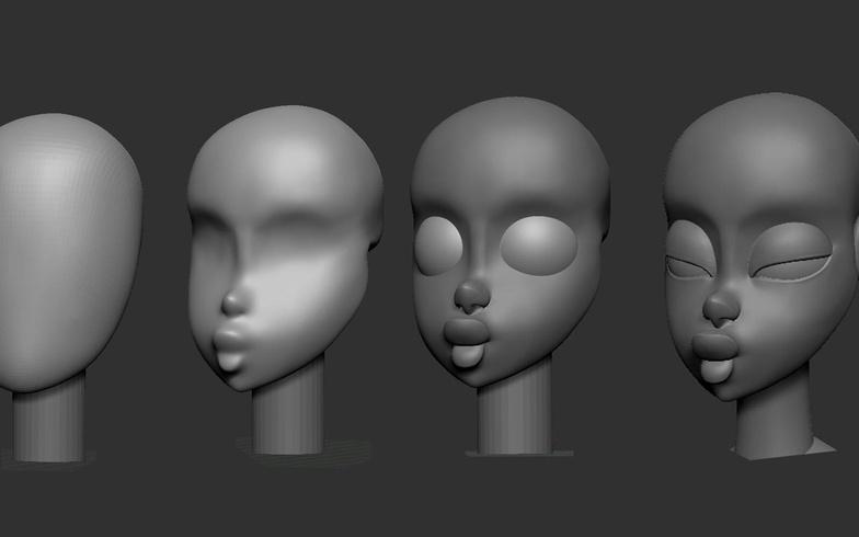 maya facial sculpting model face features