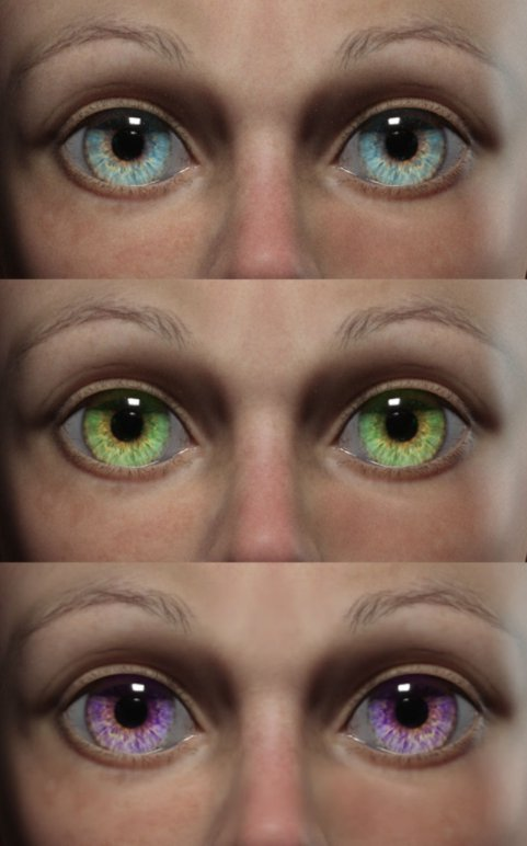 eyes 3d models render realistic close up