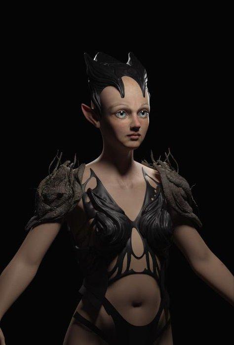 fairy elf design model render 3d fantasy character