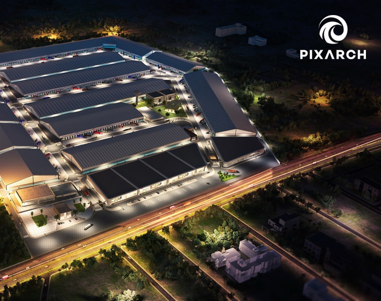 Falcon Logistics Park by Pixarchby Pixarch Architectural Visualization
