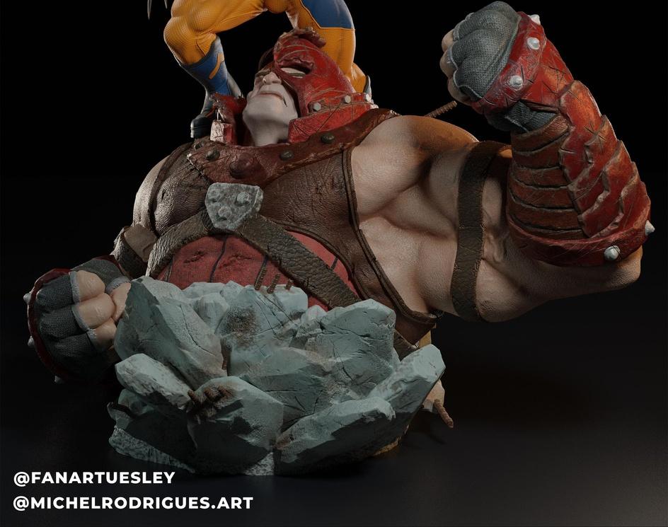 Wolverine vs Juggernautby FanArtUesley