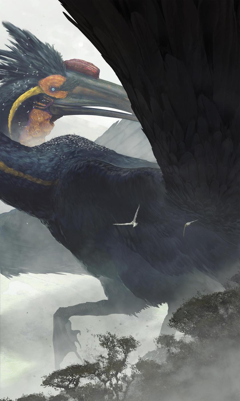 dominant bird large creature design