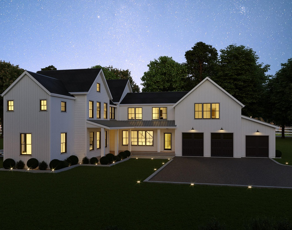 A New Farmhouse in USA | 3D Architectural Visualization | DEER Designby DEER Design