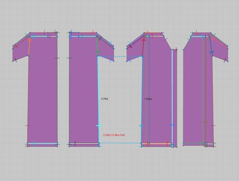 segment sewing tool shirt 3d