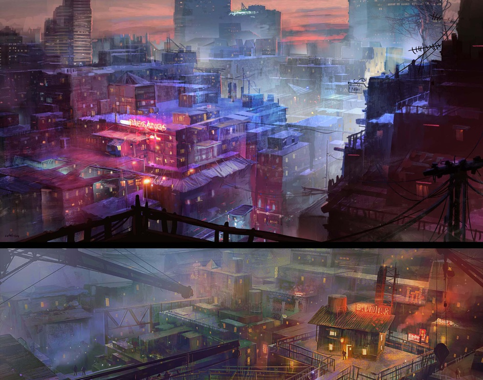 Chaotic city_3by Fathel