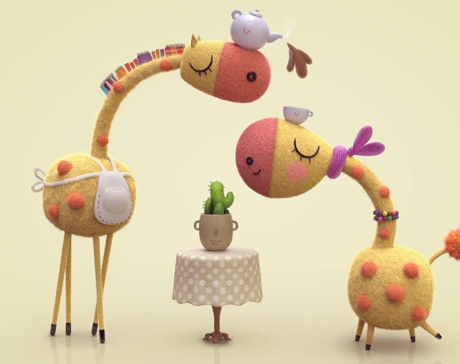 Giraffe Breakfastby Ali Chenari