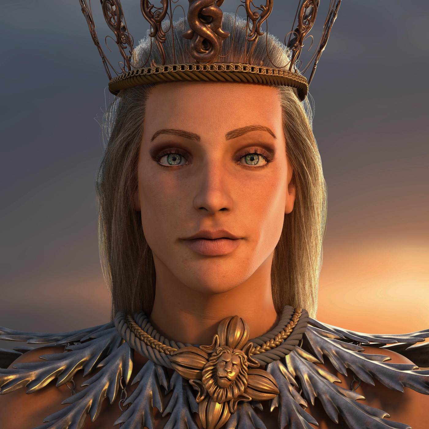 athena goddess 3d model