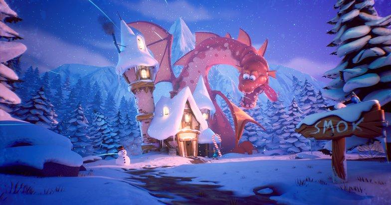 final composed shot dragon fantasy render model environment