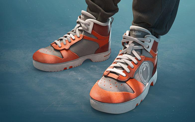 hi-top shoes 3d model