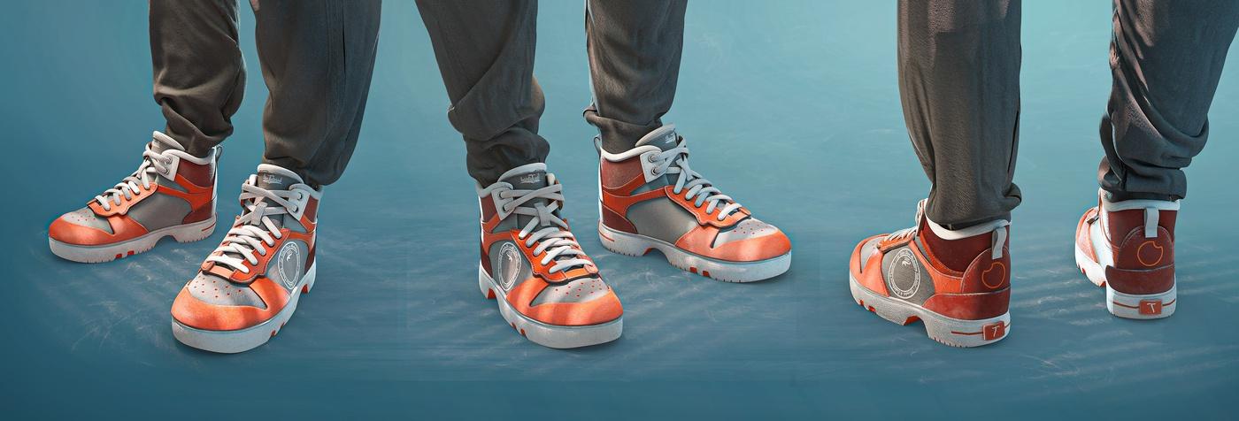 sports shoes 3d model render design sculpt
