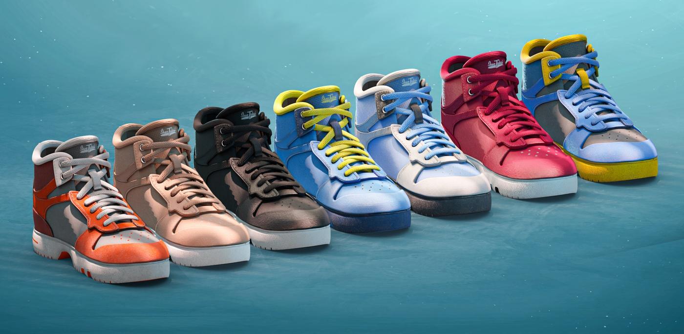 shoes sportswear model render 3d trainers