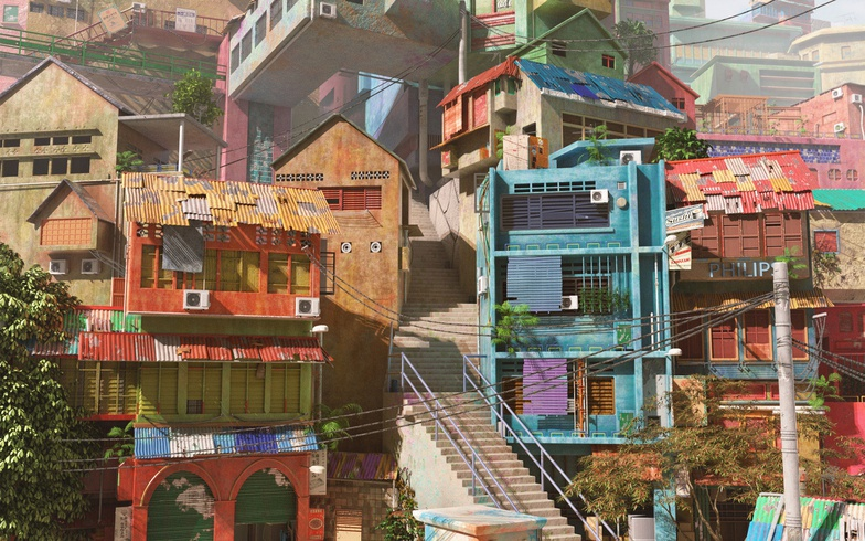 3d, colourful, buildings, houses, home, generalist