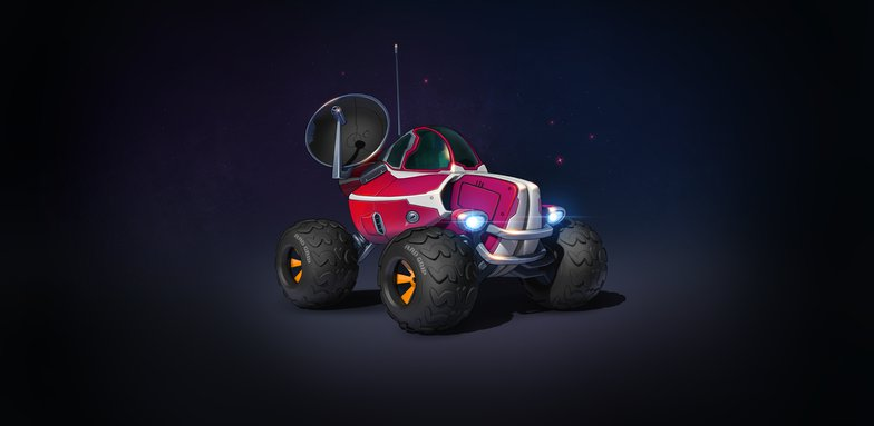sparks tires car buggy buggy vehicle 3d model stylised car sci-fi prop design texture