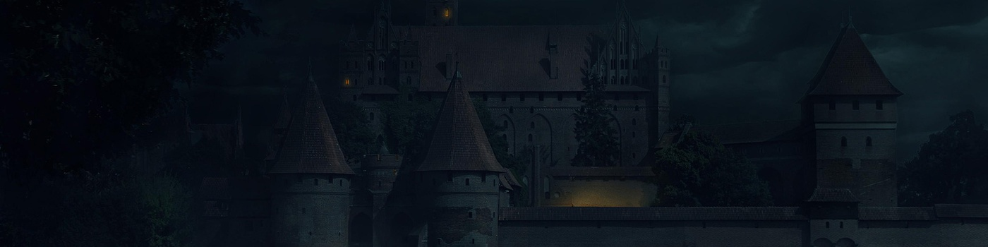 night time, castle, matte painting, photoshop,