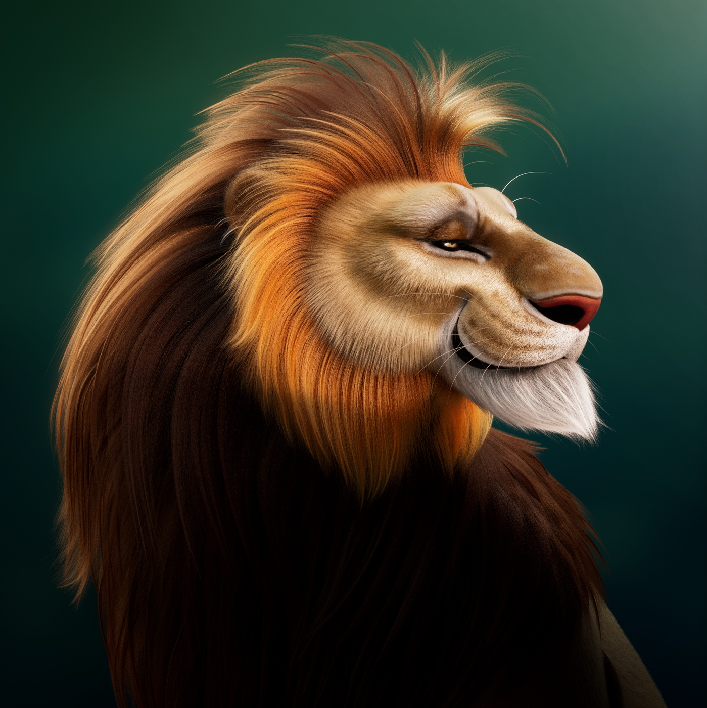 illustration model lion mammal furry animal design
