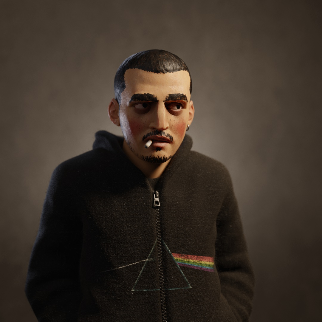 self portrait 3d model male character