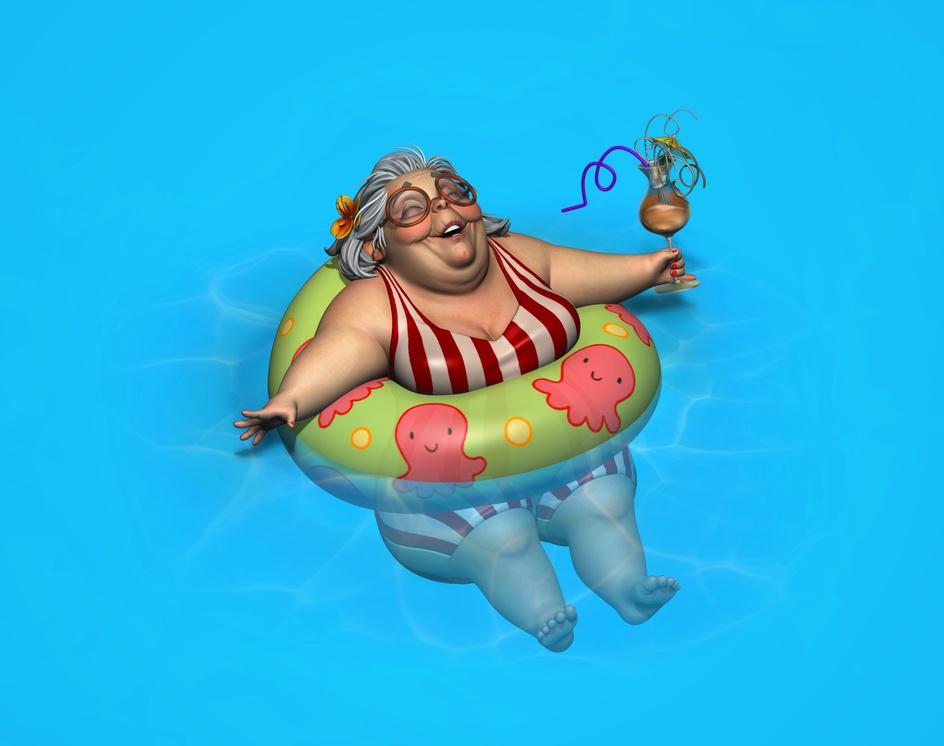 Floating Ladyby Caroline Pricillia Ng