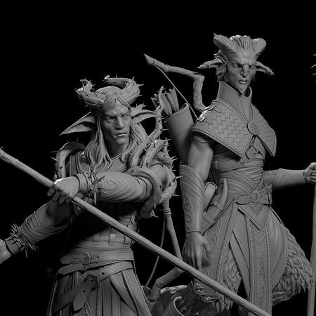 fantasy elf and satyr