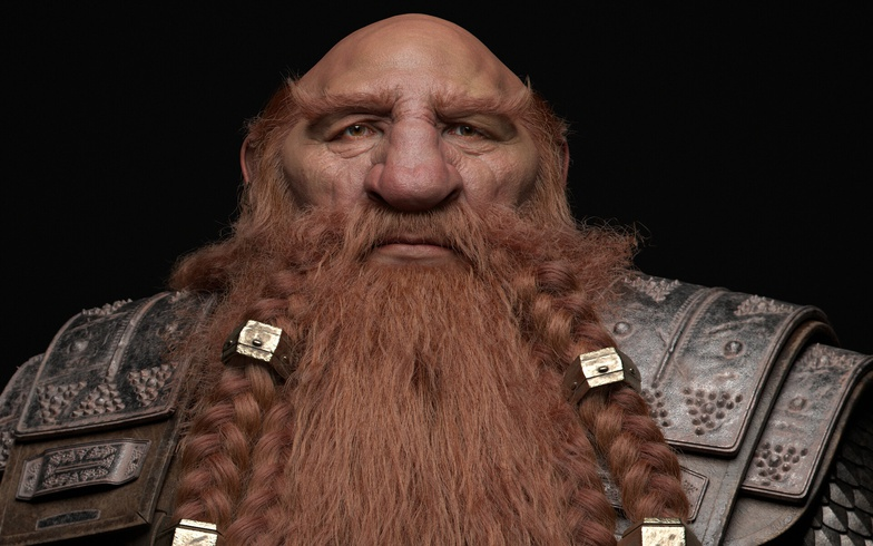 dwarf fantasy iron clad character
