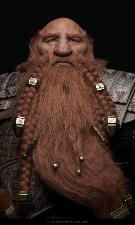 3d model viking render xgen maya hair beard sculpt