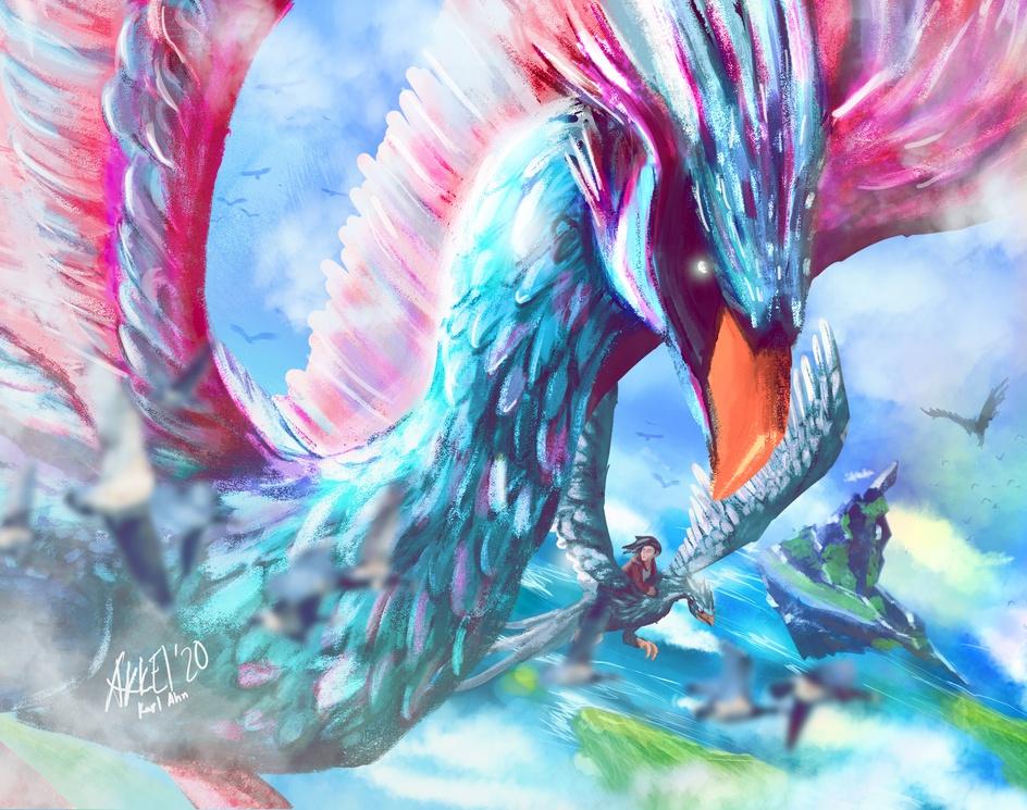 Mythical Feathered Beastby Karl Ahn