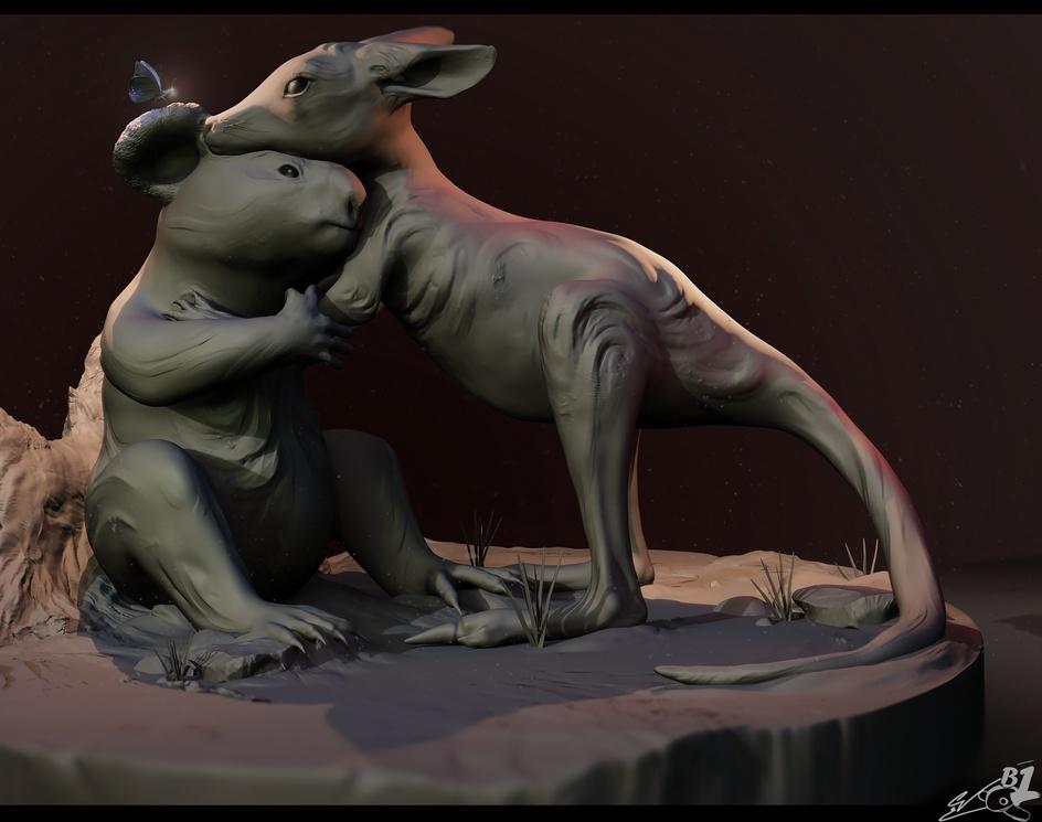 Koala & Kangarooby Carl Vazquez