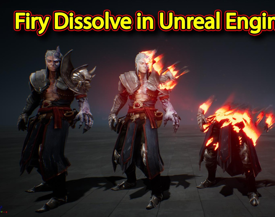 Firy Dissolve Effect in Unreal Engine Material Editorby Ashif Ali