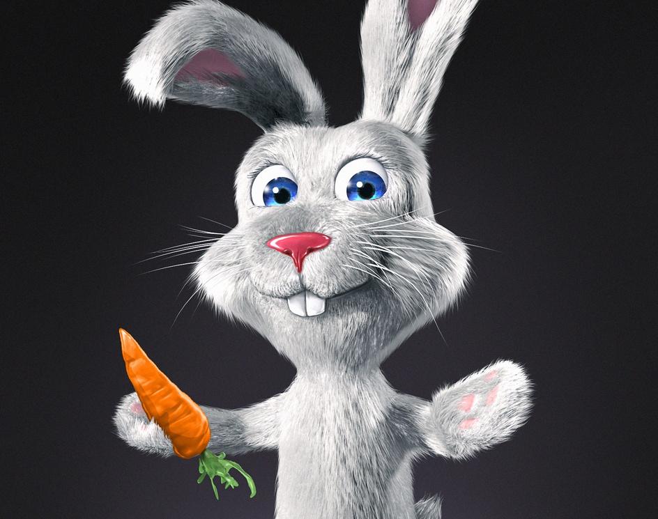Fluffy Bunny and a carrotby Alin Cristian Militaru