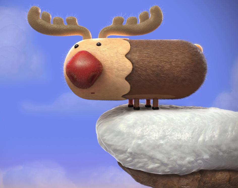 Cartoon reindeerby Ali Chenari