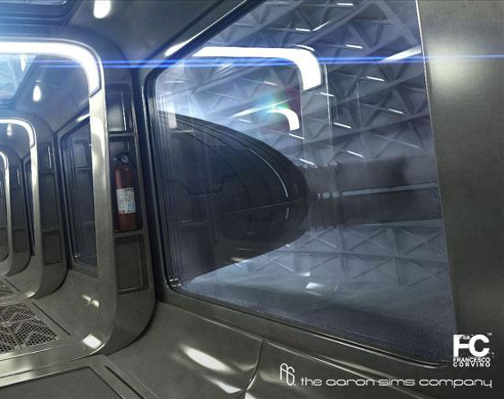 Sci-Fi hallwayby francesco_corvino
