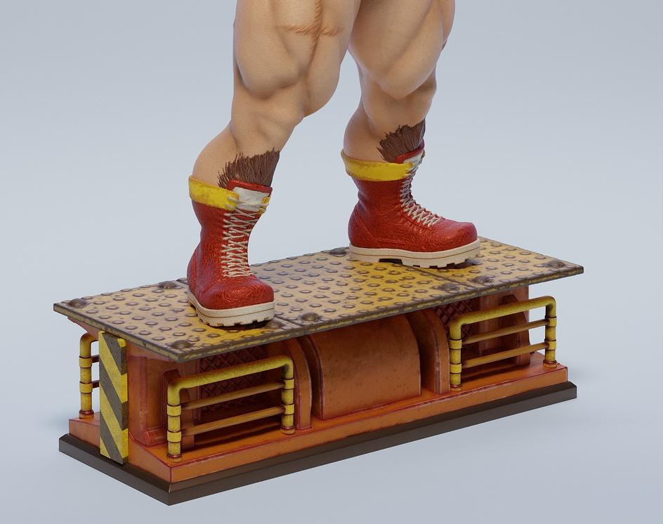 Zangief for 3D Print, 1/6 Scale Statueby Brazucka