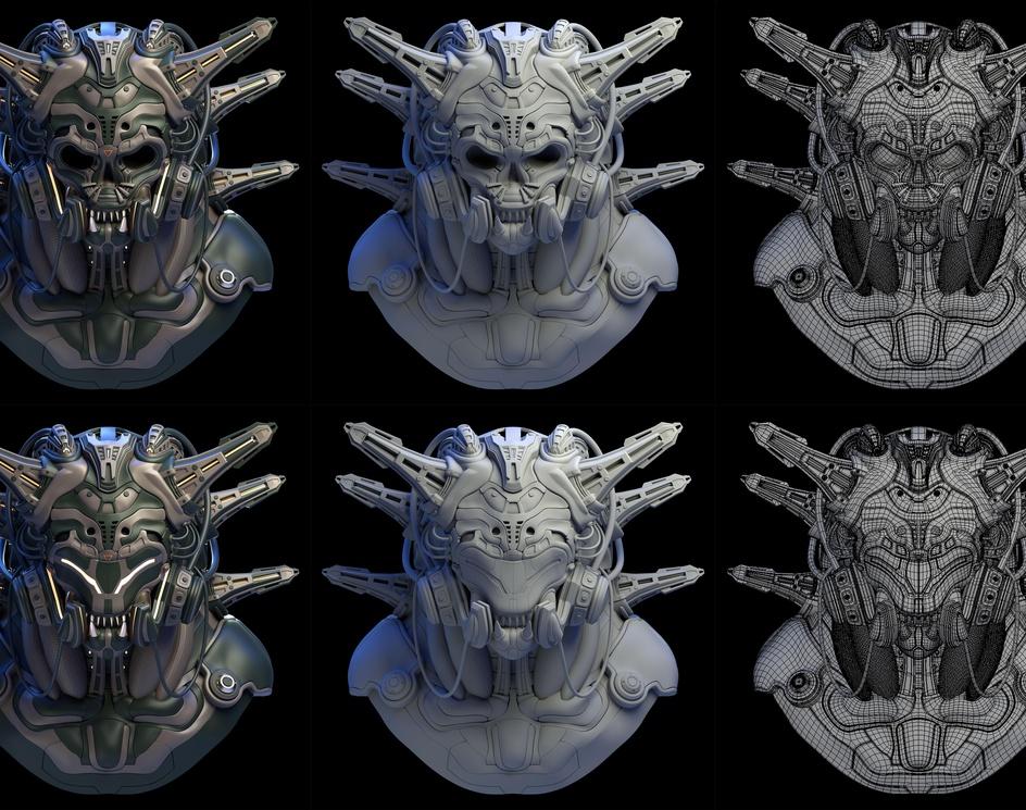 -Devil's armor-G.T (Green.Triangle) mecha maskby Takuto Mizuno