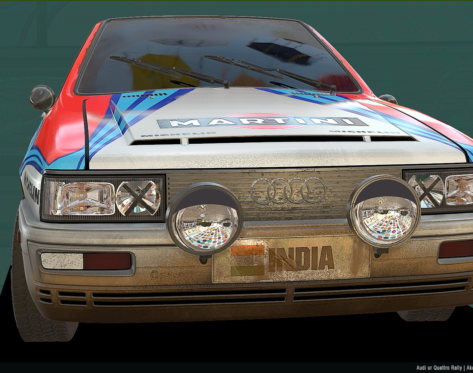 Audi ur Quattro - Rally artby Akash Sharma