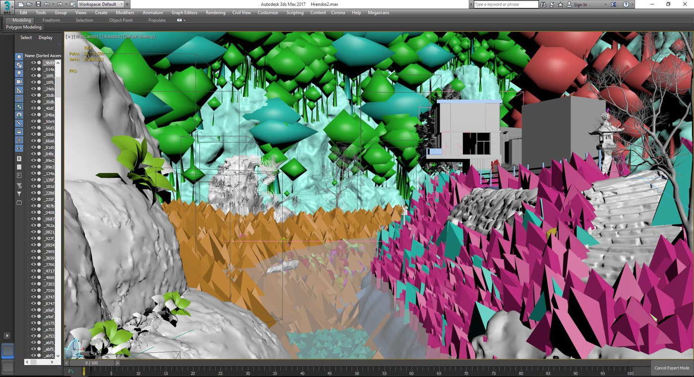 woods visdev image nature 3d layers manual paint