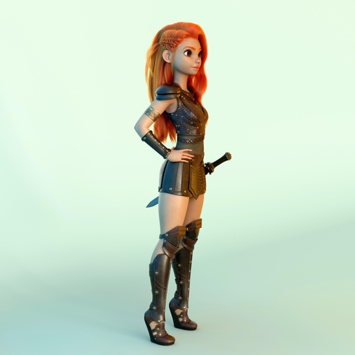 warrior woman character design model