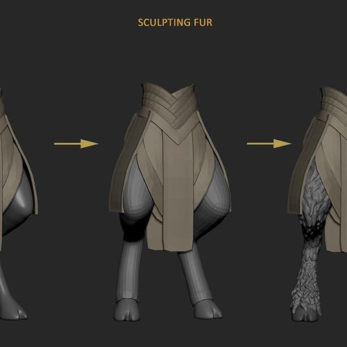 sculpting fur
