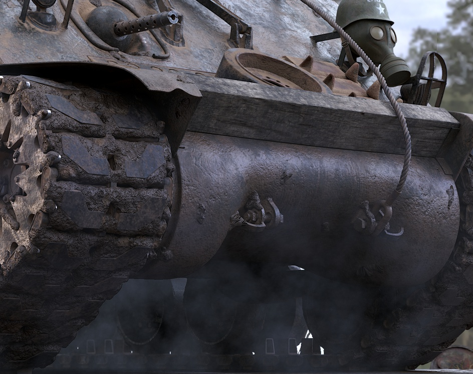 M4 Sherman tank (FURY)by ThiyagarajanMurugesan