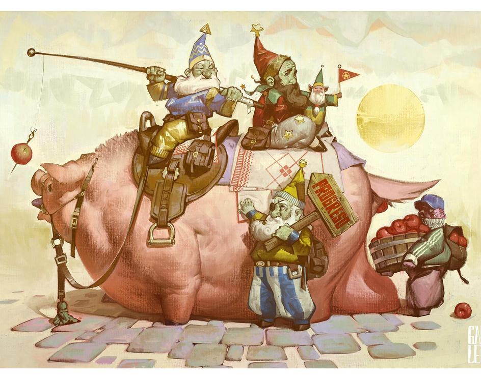 Chancho and the 4 dwarvesby Gaboleps