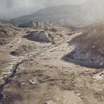 desert mountain terrain 3d model realistic