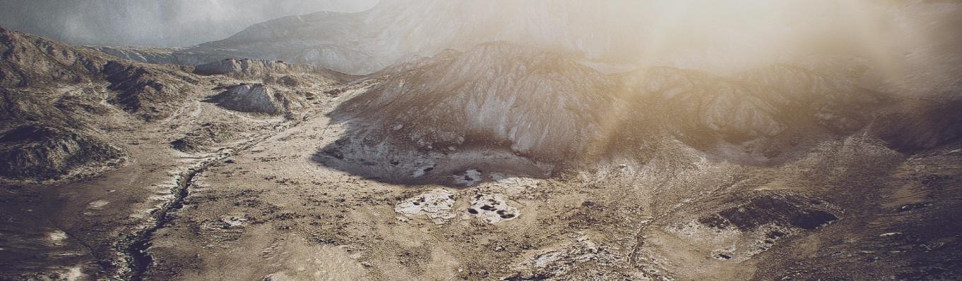 mountain terrain landscape 3d render natural realistic