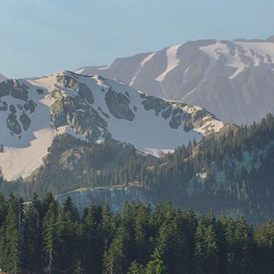 mountain realist model terrain environment model
