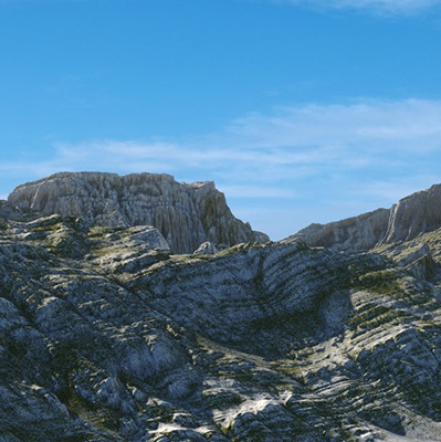 mountain terrain 3d model render nature