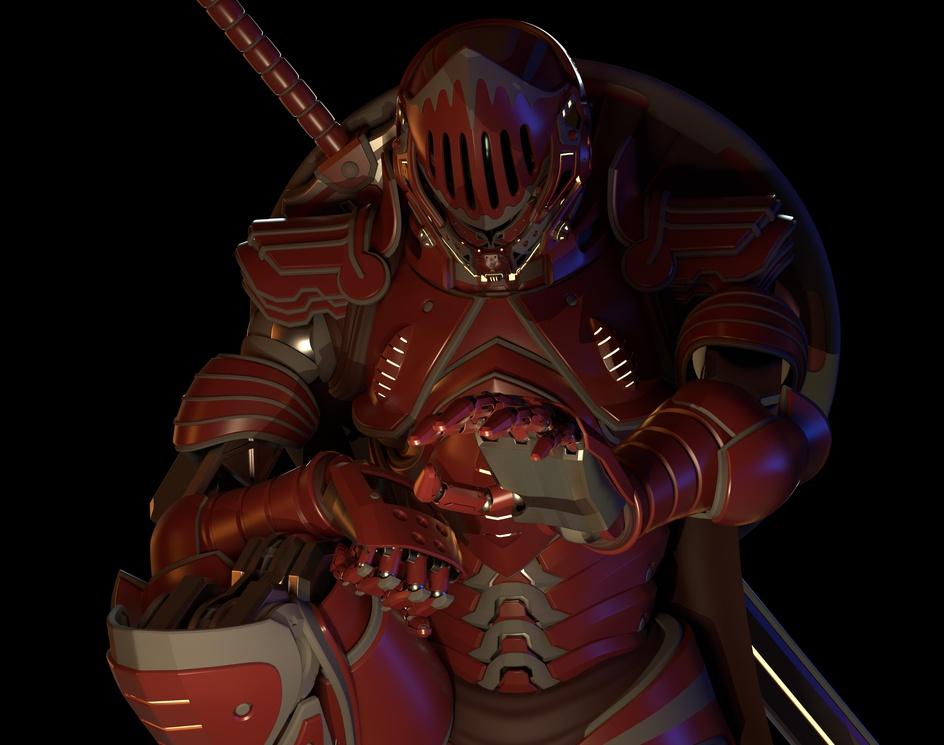 Crimson knightby Takuto Mizuno