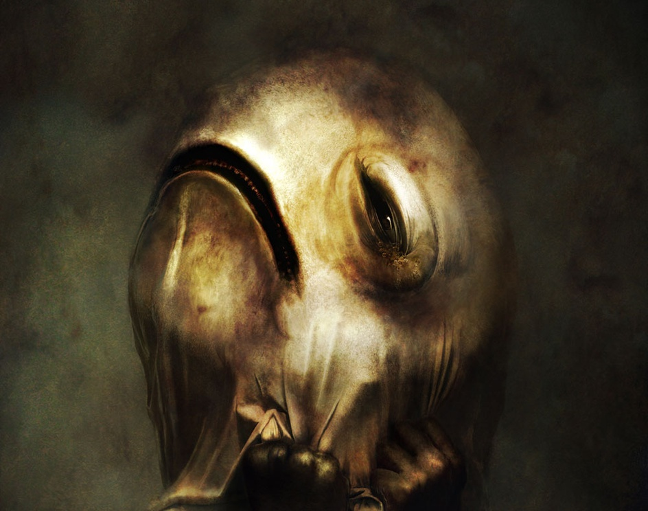 Wear a melancholy mask unawaresby Ryohei Hase